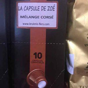 Capsule de zoé mélange corsé .10 capsules compatibles 53gr