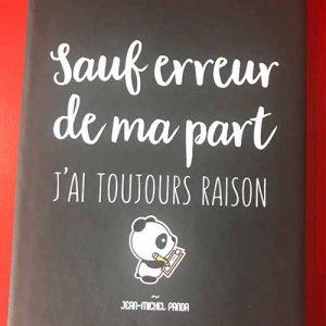 Carnet noir Jean Michel Panda : différents modèles