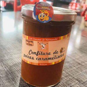 Confiture  Normande de poires caramélisées 240 gr