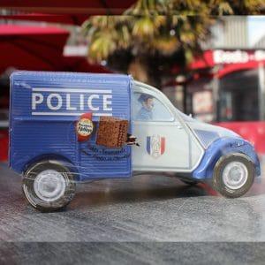 Biscuits Normands boîte voiture 2 CV Police