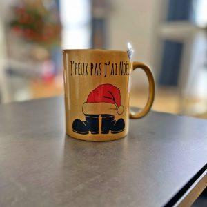 Tasse Mug de Noël doré