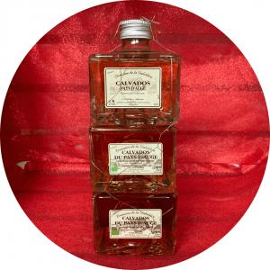 Lot 3 minis bouteilles, Domaine de Galotière Calvados Pays d'Auge