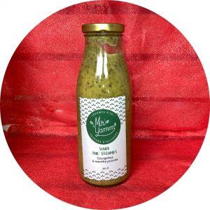 Soupe Pur légumes courgettes et menthe poivrée / Miro Yamm
