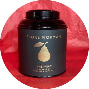 Thé vert bienfaits pomme poire caramel & calvados FLORE NORMAND